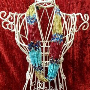 Beautiful 26 strand seed bead necklace